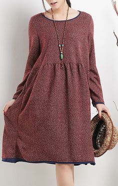 plus size clothing. Burgundy plus size dress long sleeves spring dresses shirt blouse