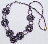 Deb Roberti's Crocus Garden Necklace done in purple shades