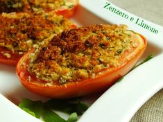 Italian Cooking, Italian Recipes, Veggie Recipes, Finger Foods, Buffet, Appetizers, Food And Drink, Stuffed Peppers, Pane Casereccio