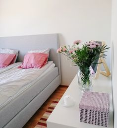 My bedroom with weekend flowers 🌸