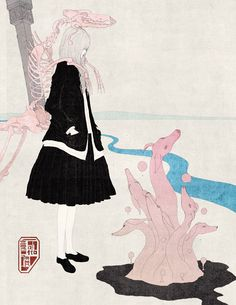 Chiba is a freelace illustrator, an artist who was born in Japan and lives in Niigata.  Kotaro Chiba started printing his illustrations on T...