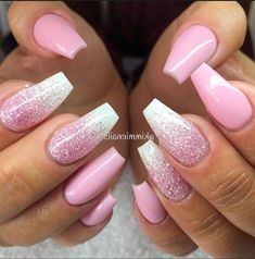80 Most Sexy And Trendy Prom And Wedding Acrylic Nails And Matte Nails For This . - - 80 Most Sexy And Trendy Prom And Wedding Acrylic Nails And Matte Nails For This Season - Nail Design 49 Wedding Acrylic Nails, Cute Acrylic Nails, Acrylic Nail Designs, Wedding Nails, Cute Nails, Pretty Nails, Acrylic Nails For Summer Glitter, Glitter Ombre Nails, Glitter Nail Designs
