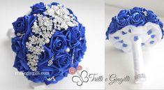 bouquet sposa gioiello tema musica blu