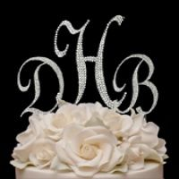 The hottest new concept in wedding cake ornamentation is Monograms for the top of the cake. We have different style of monogram cake topper: crystal cake topper, Swarovski Crystal cake topper, gold monogram cake initial and more. Letter Cake Toppers, Monogram Cake Toppers, Wedding Cake Toppers, Wedding Cake With Initials, Monogram Wedding, Lily Wedding, Wedding Day, Dream Wedding, Wedding Stuff