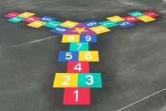 Resultado de imagen para juegos pintados en patio