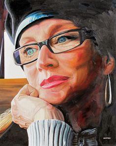 Christopher B. Mooney: Paintings of Women's Faces (pop art)