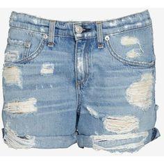 41ffe258e9 rag & bone/JEAN Shredded Boyfriend Shorts ($79) ❤ liked on Polyvore