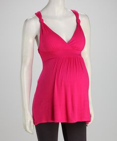 Take a look at this Fuchsia Maternity Tank by Leone Maternity on #zulily today!