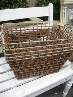 Old wire baskets