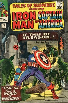 """If this be treason..!"" Great Britain Tales Of Suspense Comic Book Cover"