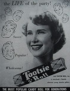 1950s TOOTSIE ROLL CANDY vintage advertisement by Christian Montone, via Flickr