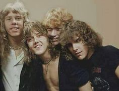 Metallica 1981 James Hetfield, Lars Ulrich, Dave Mustaine, Ron McGovney
