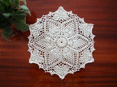 Lace home decorations Hexagonal crochet doily Beige hexagon napkin 12 inches diameter Table decor Gift for grandma Hand crochet Hand made by CrochetedCosiness on Etsy