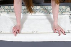Getting custom Roman shades made is expensive, so why not make them yourself? This tutorial includes a video, written directions, and photos. Drapery Fabric, Lining Fabric, Blind Hem Stitch, Roman Shade Tutorial, Custom Roman Shades, Invisible Stitch, Stitch Witchery, Diy Curtains, Straight Stitch