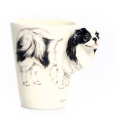 Japanese Chin 3D Ceramic Mug  Black -- More info could be found at the image url. (This is an affiliate link)