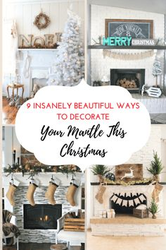 Decorate your Mantel for the Holiday Season. DIY, DIY Home, DIY Home Decor #Christmas #DIYChristmas