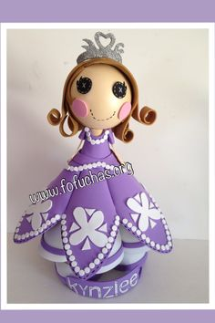 This Fofucha doll is a combination inspired in two characters, Princess Sofia The First and Lalaloopsy. She is 100%handmade. She is made using foam sheets. She stands at 13 inches.Her Gown is filled with detail. She is super lovely to purchase visit www.fofuchas.org www.facebook.com/fofuchashandmadedolls  #PrincessSofia #fofuchas #lalaloopsy