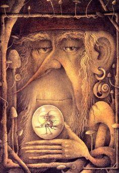Gnomes and Gardens Wayne Anderson, Street Gallery, Fairy Art, Halloween Art, Illustration Art, Vintage Illustrations, Art Boards, Witchcraft, Gnomes