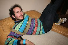 somehow every other sweater picture I find has a person flaunting the sweater in an unusual pose