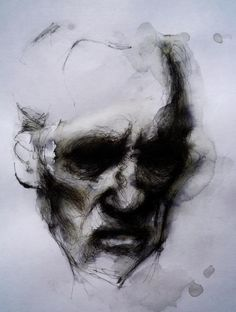 "Saatchi Online Artist: simon riley; Pen and Ink, Drawing ""b"""