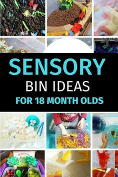 sensory bins for 19 month old toddlers - easy and fun sensory bin ideas for toddlers to do at home or in daycare. Tactile Activities, Sensory Activities Toddlers, Motor Skills Activities, Hands On Activities, Therapy Activities, Infant Activities, Preschool Activities, Outdoor Activities, Toddler Sensory Bins