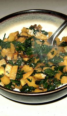 I ♥ kale: Buttery Rutabagas with Browned Onions and Kale
