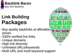 High PR Quality SEO backlinks is one of the most important factors in Search Engine Optimization. Buy Quality SEO Link Building And start generating traffic to your business website. Backlink Baron is...
