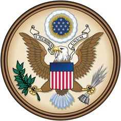 """Great Seal of the United States. """"On July 4, 1776, Benjamin Franklin, John Adams, and Thomas Jefferson were given the task of creating a seal for the 13 United States of America. The delegates of the Constitutional Convention believed an emblem and national coat of arms would be evidence of an independent nation and a free people with high aspirations and grand hopes for the future."""