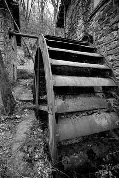 Abandoned Water Mill, Derbyshire, England