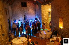 Evening wedding party at The Tythe Barn, Priston Mill