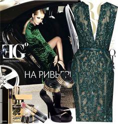 """Emerald skin"" by eleonoragocevska ❤ liked on Polyvore"