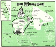 Walt Disney World map The theme park opened on Oct. 1, 1971