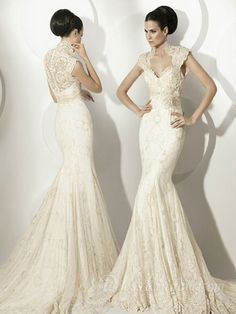 Outstanding Sheath / Column High Neck Floor-length Lace Beach Wedding Dresses [10121985] - US$260.99 : DressKindom