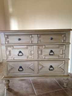 Custom mix of Coco and Country Grey Annie Sloan Chalk Paint and a custom dark wax finish.....love!