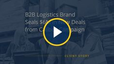 Watch this short video to learn how Callbox helped a logistics provider expand in a new market and close high-value deals faster. New Market, Lead Generation, Case Study, Campaign, Success, Marketing, How To Plan, Learning, Watch