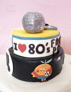 Estrade's cakes: tarta de fondant recordando los años 80