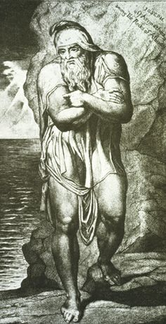 Joseph of Arimathea among the Rocks of Albion by William Blake. He did it in 1773 while still a teenager. William Blake, Tarot, Joseph Of Arimathea, English Poets, Old And New Testament, Holy Week, John The Baptist, Holy Family, Classical Art