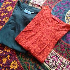 Bundle of two tops Bundle of two tops. Darker top is Vera Wang and the other is Elle. Both are in excellent condition and very comfy. Both are XS but can fit S. Simply Vera Vera Wang Tops