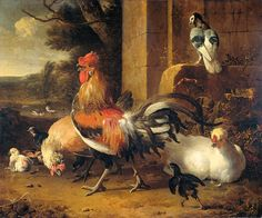 """hondecoeter melchior d hoenderhof 1695 (from <a href=""""http://www.oldpainters.org/picture.php?/27450/category/12016""""></a>)"""
