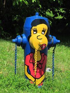 .倫☜♥☞倫 Fire Hydrants, Fire Equipment, Firefighting, Water Colors, Street Art Graffiti, Roads, Plugs, Fancy, Paintings