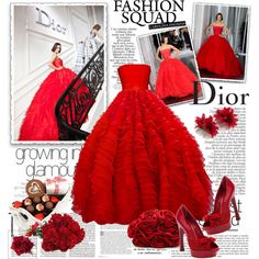 Not only would I love to have this gorgeous red gown, but an invitation to an event where this would be appropriate. Dior couture 2012 #944