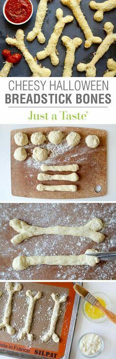 Halloween Style! Perfect Halloween Party Recipe! Halloween Breadstick Bones! Genius!