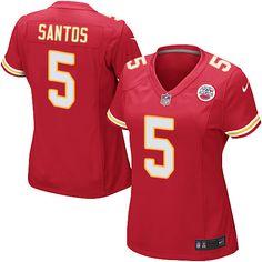 Nike Game Cairo Santos Red Women's Jersey - Kansas City Chiefs #5 NFL Home