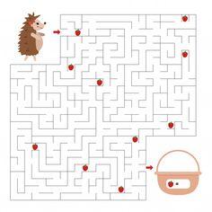 Gioco del labirinto per bambini Vettore ...   Premium Vector #Freepik #vector #scuola #libro #bambini #istruzione Printable Preschool Worksheets, Maze, Mandala, Calendar, Holiday Decor, Vector Freepik, Space Activities, Mazes For Kids, Parenting Hacks
