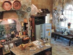 Kammys Creations by Kammy Hill... My Miniature Tuscan Kitchen Roombox 1:12 scale