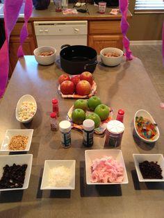 Girls birthday party idea...build your own caramel apple.