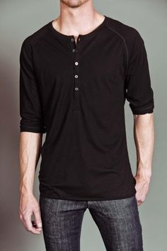 MG Black Label Orion 3/4 Varsity Henley