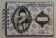 Karins-kortemakeri Minnebok, med plass til bilder, taler og sanger, gjesteliste og gavebord