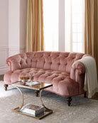 Brussel Blush Tufted Sofa