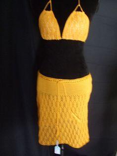 Costumi da bagno - gonna copri costume pizzo cotone maglia - un prodotto unico di dorazimorena su DaWanda